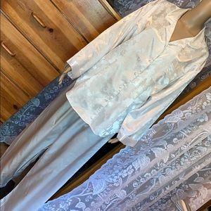 "Collette Satin Pajama Set Size XL 50"" Bust"